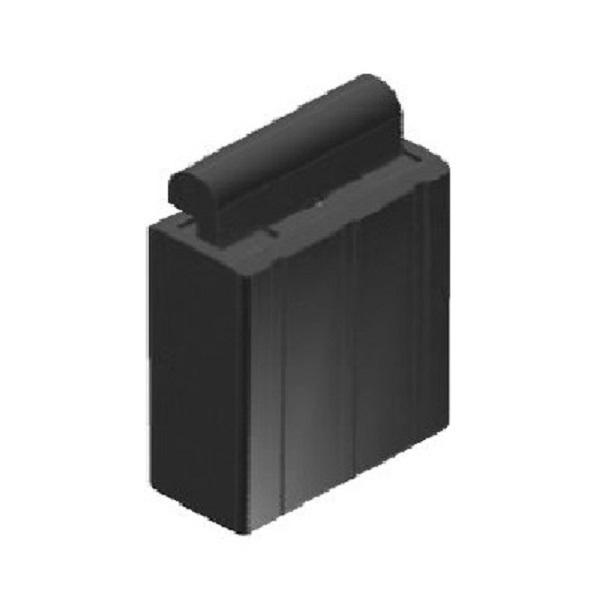 WTS - Auflaufstopper AS1, 12 x 30mm (BxH), mit Profil-Nut 5,5 mmpassend zu Gummiprofil GP1