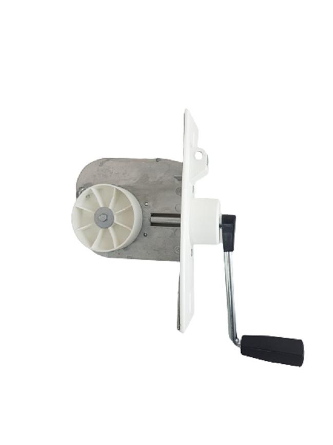 Einlass Kurbel Gurtwickler 9 m Gurtaufnahme, für 23 mm Gurt, Lochabstand 135 - 160 mm