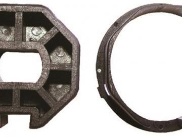 WTS - Adapterset DM-A40K -40 mm Achtkantwelle für Mini-Rohrmotoren  Ø 35 mm, Serie DM - DMF - ME