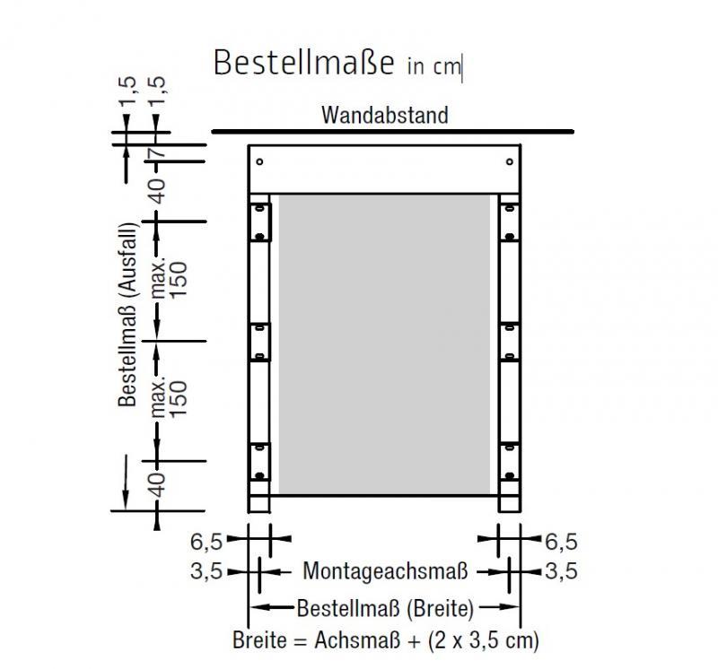 Druckplatte ohne. Schienenhalter für Morano - für Lewens Portofino Unterglasmarkise