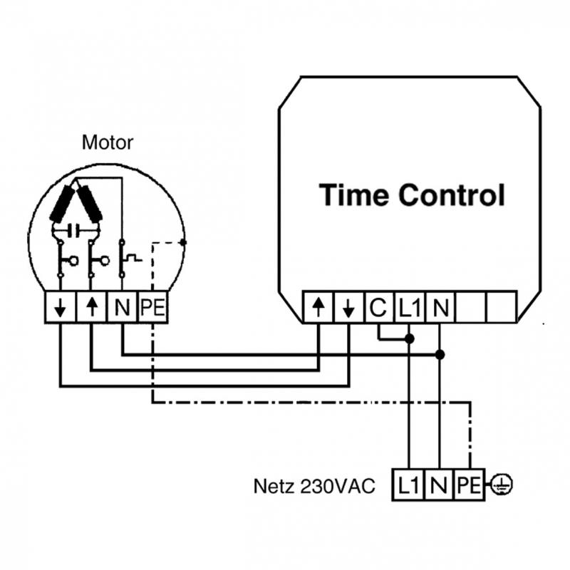 Vestamatic - Zeitschaltuhr TIME CONTROLsignalweiss UP mit Standard-Rahmen
