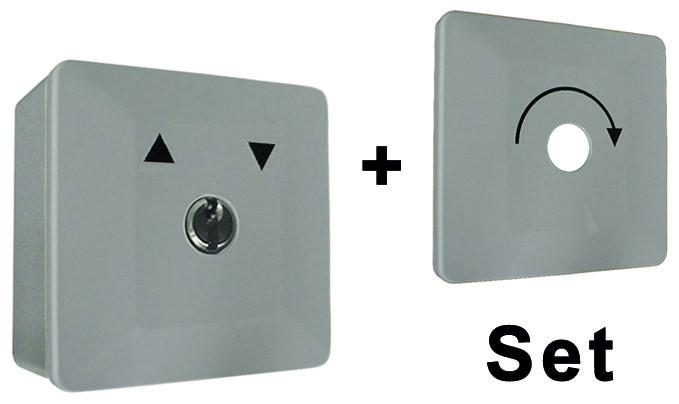 WTS - Universal - Schlüsselschalter Set Alugehäuse, AP wassergeschützt - Schutzart IP 54